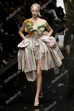 Model Michaela Kocianova on catwalk