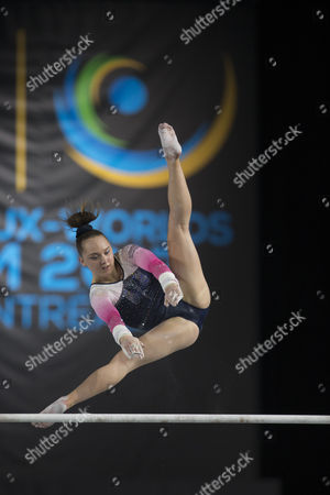 Gymnast Amy Tinkler (GBR) competes during qualifications at the 47th FIG Artistic Gymnastics World Championships at Olympic Stadium in Montreal, Canada. Melissa J
