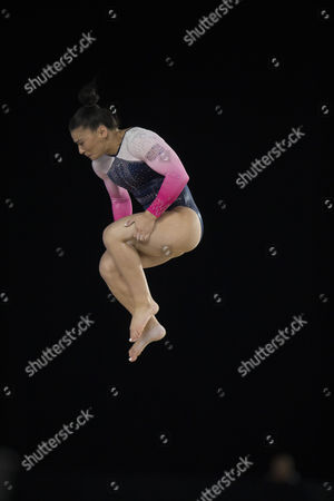 Gymnast Claudia Fragapane (GBR) competes during qualifications at the 47th FIG Artistic Gymnastics World Championships at Olympic Stadium in Montreal, Canada. Melissa J