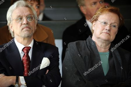 Dr Pentti Arajarvi and wife Finnish President Tarja Halonen