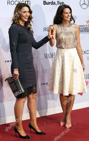 Annett Moeller (L) and Katrin Wrobel at the red carpet for the event 'A Tribute to Bambi', in Berlin, Germany, 05 October 2017. The gala attended by celebrities is a charity event in aid of children and youngsters in need of help.