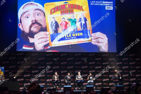 Stock Photo of Mike Zapcic, Ming Chen, Bryan Johnson, and Walter Flanagan and Kevin Smith