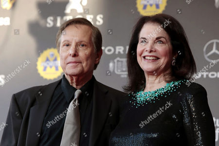 Stock Photo of US director William Friedkin (L) and his wife Sherry Lansing (R) pose as they arrive  to the Sitges Fantastic Cinema Festival opening gala in Sitges, Barcelona, 05 October 2017.