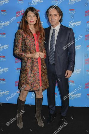 Editorial image of 'Flashdance' musical opening night, Arrivals, Milan, Italy - 05 Oct 2017