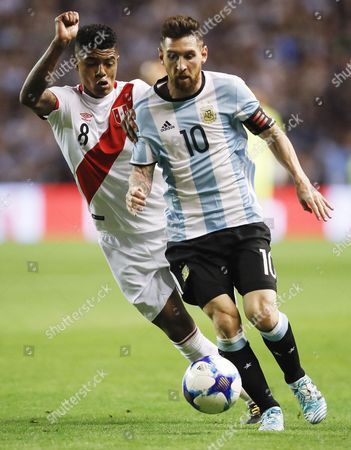 Lionel Messi and Wilder Cartagena