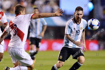 Lionel Messi and Aldo Corzo