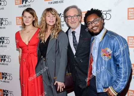 "Destry Allyn Spielberg, Kate Capshaw, Steven Spielberg, Theo Spielberg. Filmmaker Steven Spielberg poses with his wife Kate Capshaw, daughter Destry Allyn Spielberg and son Theo Spielberg at the world premiere of ""Spielberg,"" during the 55th New York Film Festival, at Alice Tully Hall, in New York"