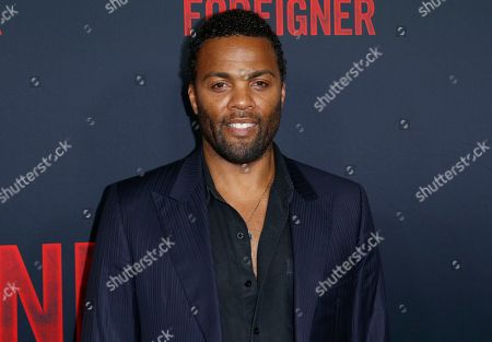 """Ray Fearon arrives at the LA Premiere of """"The Foreigner"""" at the ArcLight Hollywood, in Los Angeles"""