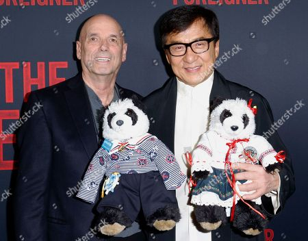 """Martin Campbell, Jackie Chan. Director Martin Campbell, left, and Jackie Chan arrive at the LA Premiere of """"The Foreigner"""" at the ArcLight Hollywood, in Los Angeles"""
