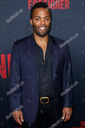 """Stock Image of Ray Fearon arrives at the LA Premiere of """"The Foreigner"""" at the Arclight Hollywood, in Los Angeles"""