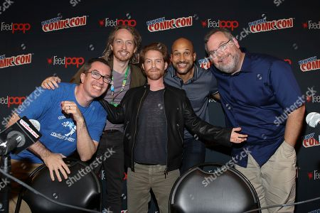 Matthew Senreich, Zeb Wells, Seth Green, Keegan-Michael Key, Tom Root. Matthew Senreich, Zeb Wells, Seth Green, Keegan-Michael Key, and Tom Root seen at New York's Comic Con to celebrate Crackle's Emmy- Nominated series 'SuperMansion' and the release of the original Special 'Supermansion: Drag Me to Halloween', in New York. The Halloween special is streaming now free on Crackle
