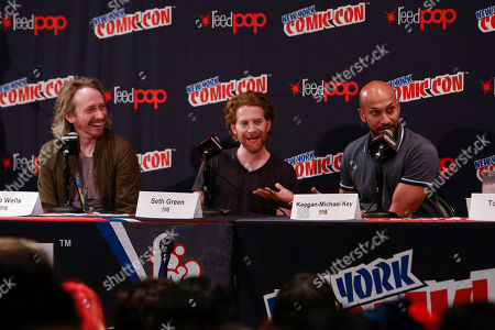 Zeb Wells, Seth Green, Keegan-Michael Key. Zeb Wells, Seth Green, and Keegan-Michael Key seen at New York's Comic Con to celebrate Crackle's Emmy- Nominated series 'SuperMansion' and the release of the original Special 'Supermansion: Drag Me to Halloween', in New York. The Halloween special is streaming now free on Crackle