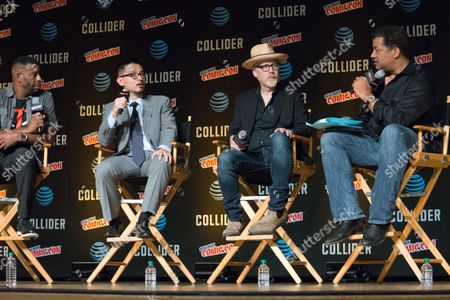 Chuck Nice, S. Matthew Liao, Adam Savage, and Neil deGrasse Tyson