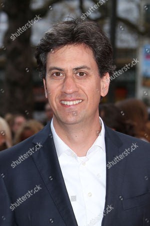Former Leader of the Labour Party Ed Milliband poses for photographers upon arrival at the premiere of Florence Foster Jenkins at a central London cinema
