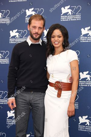 Stock Picture of Nicolas Duvauchelle and Crystal-Donna Roberts pose for photographers at the photo call for the film The Endless River during the 72nd edition of the Venice Film Festival in Venice, Italy, . The 72nd edition of the festival runs until Sept. 12