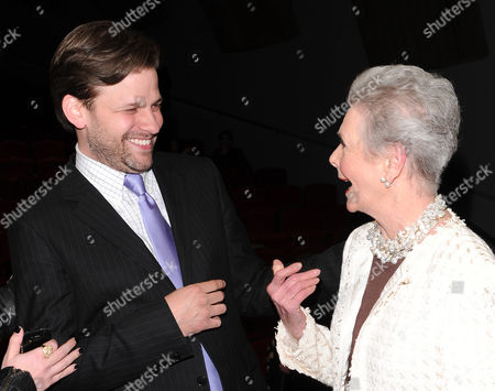 "Filmmaker Matthew Miele and Bergdorf Goodman personal shopper Betty Halbreich attend the ""Scatter My Ashes At Bergdorf's"" premiere at Florence Gould Hall on in New York"