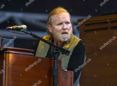 Gregg Allman performs during the 2015 Stagecoach Festival in Indio, Calif. Allman has cancelled or rescheduled his shows throughout 2016 and the beginning of 2017 after a vocal cord injury. The 68-year-old musician said in a statement posted on his website, he is taking several months off from touring so he can focus on his health.â