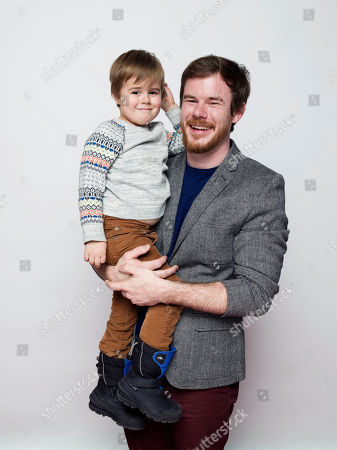 "Jude Swanberg, left, and director Joe Swanberg pose for a portrait to promote the film, ""Digging for Fire"", at the Eddie Bauer Adventure House during the Sundance Film Festival, in Park City, Utah"