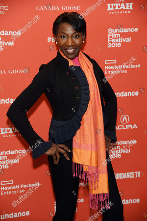 """Stock Photo of Jeryl Prescott, a cast member in """"The Birth of a Nation,"""" poses at the premiere of the film at the 2016 Sundance Film Festival, in Park City, Utah"""
