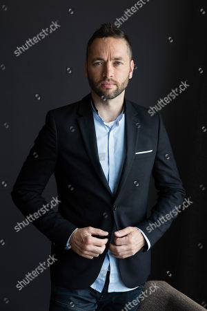 "Sean Ellis poses for a portrait in promotion of ""Anthropoid"" in New York"