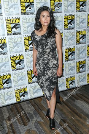 "Jadyn Wong attends the CBS ""Scorpion"" press line on day 1 of Comic-Con International, in San Diego"