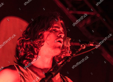 Dylan Kongos with Kongos performs during the Lunatic Tour 2015 at Center Stage Theater, in Atlanta
