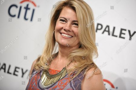 """Stock Image of Lisa Whelchel arrives at the 2014 PALEYFEST Fall TV Previews - """"The Facts Of Life"""" Reunion on Monday, Sept.15, 2014, in Beverly Hills, Calif"""