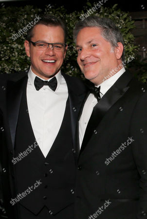 Actor Matt Damon and Greg Jacobs at the Behind the Candelabra after party at the 66th international film festival, in Cannes, southern France