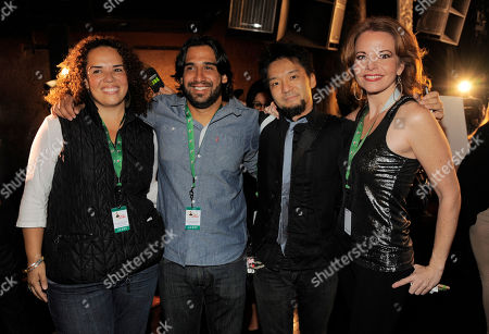 Left to right, Giovanna Moraga Clayton, Jorge Villanueva, Kay-Ta Matsuno and Lisa Dondlinger of Best New Artist nominee Quattro pose together following the 14th Annual Latin Grammy Awards nominations press conference at Avalon on in Los Angeles. The 14th Annual Latin Grammy Awards will be held on Thursday, November 21 at Mandalay Bay Events Center in Las Vegas