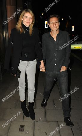 Editorial image of Dave Clarke and Lynn Anderson out and about, London, UK