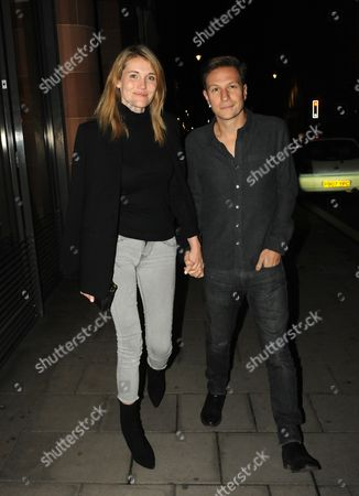 Editorial photo of Dave Clarke and Lynn Anderson out and about, London, UK