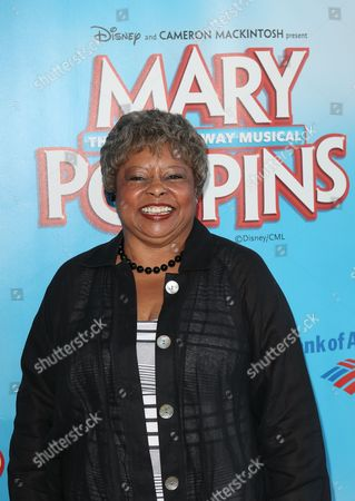 "Actress Reatha Grey poses during the arrivals for the opening night performance of ""Mary Poppins"" at the Center Theatre Group/Ahmanson Theatre, in Los Angeles, Calif"