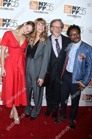 Destry Allyn Spielberg, Kate Capshaw, Steven Spielberg and Theo Spielberg