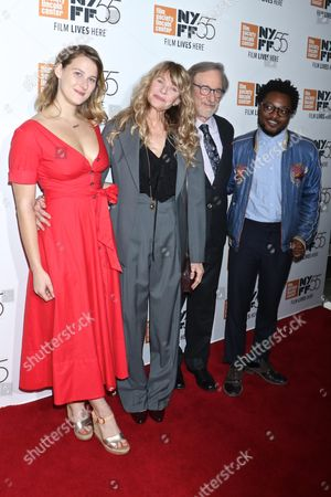 Stock Picture of Destry Allyn Spielberg, Kate Capshaw, Steven Spielberg and Theo Spielberg