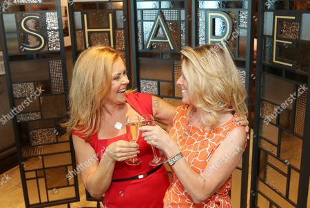 Princess Cruises' Celebrations Ambassador and actress Jill Whelan, left, and her best friend share a celebratory moment for Jill's 50th birthday at SHARE by Curtis Stone aboard Ruby Princess on in Los Angeles