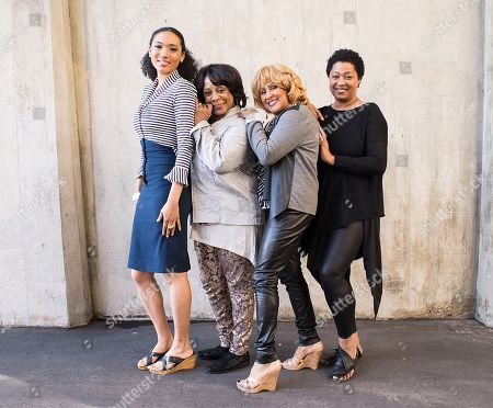 From left to right, singer Judith Hill, singer Merry Clayton, singer Darlene Love and singer Lisa Fischer pose for a portrait at the Rose Bowl on in Pasadena, Calif