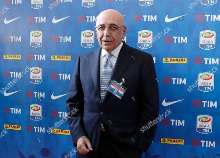 Mediaset Premium president Adriano Galliani attends at the official presentation of the Serie A 2017-2018 calendar, in Milan, Italy