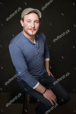 James Adomian poses for a portrait at Quaker Good Energy Lodge with GenArt and the Collective, during the Sundance Film Festival, on in Park City, Utah