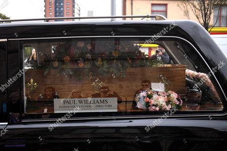 Liz Dawn coffin