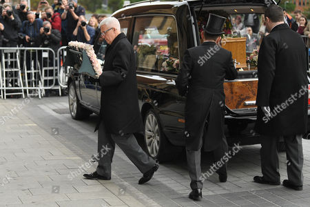 Editorial picture of The funeral of Liz Dawn, Salford Cathedral, Manchester, UK - 06 Oct 2017