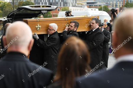 Editorial photo of The funeral of Liz Dawn, Salford Cathedral, Manchester, UK - 06 Oct 2017