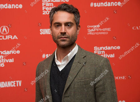 """Omar Metwally poses at the premiere of """"Complete Unknown"""" during the 2016 Sundance Film Festival, in Park City, Utah"""