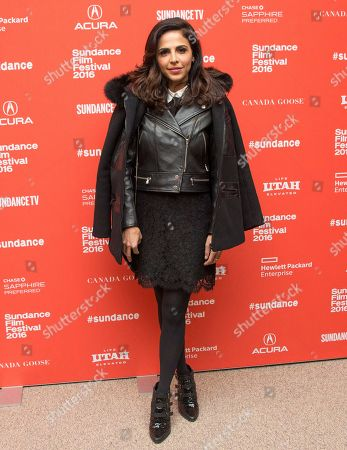 "Actress Azita Ghanizada poses at the premiere of ""Complete Unknown"" during the 2016 Sundance Film Festival, in Park City, Utah"