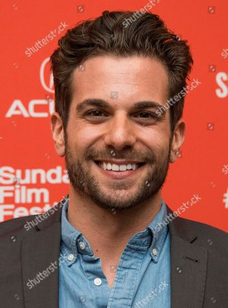 """Frank De Julio poses at the premiere of """"Complete Unknown"""" during the 2016 Sundance Film Festival, in Park City, Utah"""