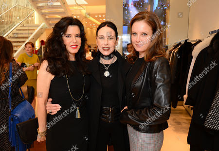Keri Selig, and from left, Nancy Lesser and Ina Treciokas attend the Power of Style Lunch hosted by The Hollywood Reporter and MaxMara, in Beverly Hills, Calif
