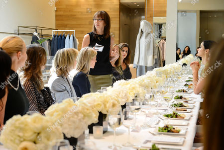 Merle Ginsberg speaks at the Power of Style Lunch hosted by The Hollywood Reporter and MaxMara, in Beverly Hills, Calif