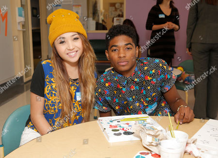 Chloe Jordache and Nadji Jeter attend Starlight Children's Foundation's Fun Center dedication at Children's Hospital Los Angeles, in Los Angeles