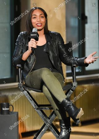"""Actress Zaraah Abrahams participates in AOL's BUILD Speaker Series to discuss the new film """"Da Sweet Blood of Jesus""""? at AOL Studios, in New York"""