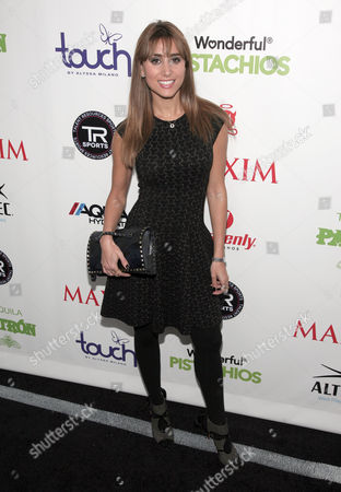 Actress Rachel Heller attends the Maxim Magazine Super Bowl Party on in New York