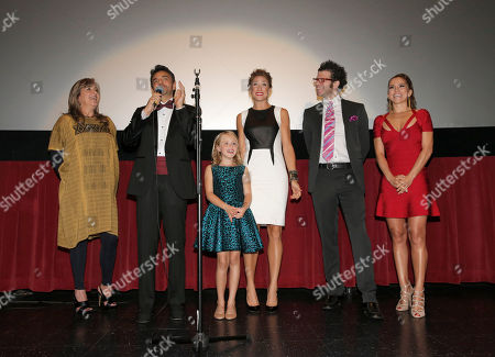 """Producer Monica Lozano, Eugenio Derbez, Loreto Peralta, Jessica Lindsey, Daniel Raymont and Alessandra Rosaldo at Pantelion Films' """"Instructions Not Included"""" Los Angeles Premiere, on Thursday, August, 22, 2013 in Los Angeles"""